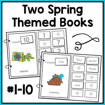 Spring Counting Adapted Books for Special Education and Autism