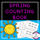 Spring Counting Book for Preschool and Kindegarten Numbers 1-10