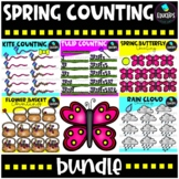Spring Counting Clip Art Big Bundle {Educlips Clipart}