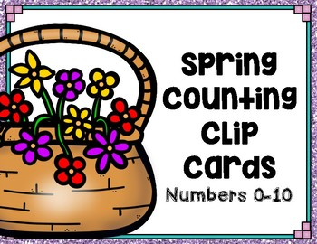 Spring Counting Clip Cards #easterbunny