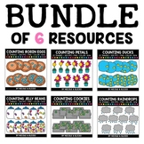 Spring Counting Clipart Bundle