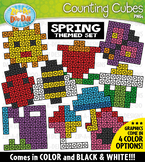 Spring Counting Cubes Clipart {Zip-A-Dee-Doo-Dah Designs}