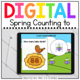 Spring Counting Digital Activity | Distance Learning