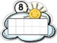 Spring Counting Mats 1-10 --- Rainy Day Counting Mats with Tens Frames