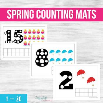 Spring Counting Mats (1-20)