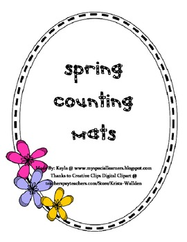 Spring Counting Mats {FREEBIE!}