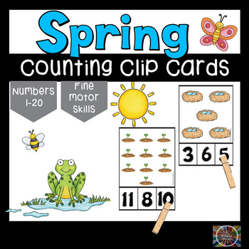 Spring Counting Clothespin Number Clip Cards