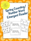 Spring Counting/Number Word Emergent Reader