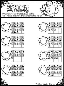 Spring Counting Numbers 1-20 *Print-N-Go!*