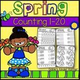 Spring Counting Numbers 1-20 *Print-N-Go!*