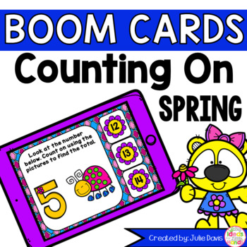 Spring Counting On Addition Digital Game Boom Cards