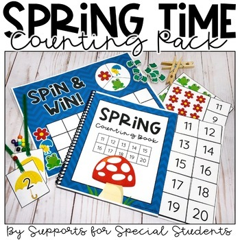 Spring Counting Pack - Hands on Counting Activities for Nu