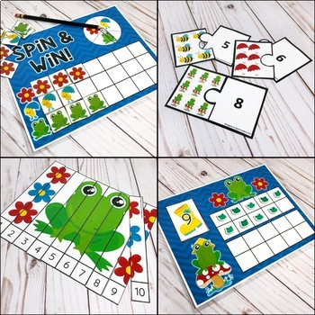 Spring Counting Pack - Hands on Counting Activities for Numbers 1-20