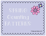 Spring Counting Patterns Cut and Paste