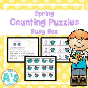 Spring Counting Puzzles Busy Box