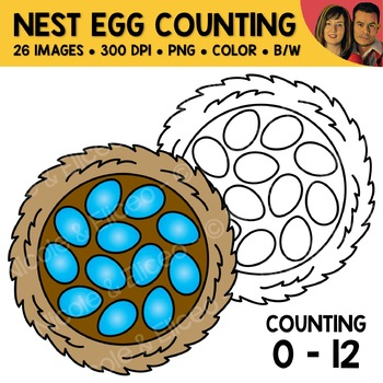 Spring Counting Scene Clipart Bundle