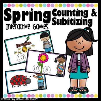 Spring Counting & Subitizing - PowerPoint Games