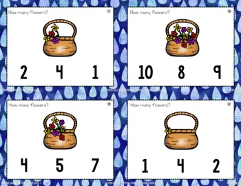 Spring Counting Task Cards