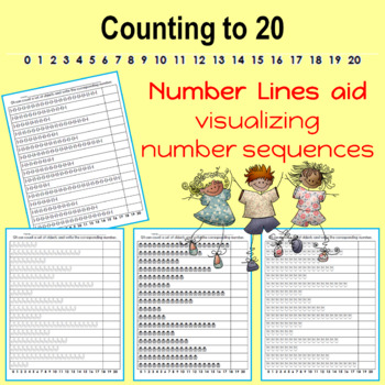 Counting 0 to 20 and Number Words 0 to 20 (spring theme)