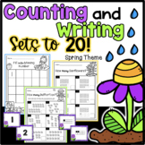 Spring Counting Sets & Writing Numbers to 20 Worksheets -