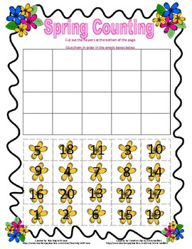 Spring Counting to 20!