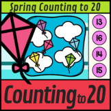 Spring Counting to 20 Flying Kites    Spring Boom Cards Distance Learning