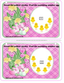 Spring Counting to 25 Kindergarten Activity Book Common Core