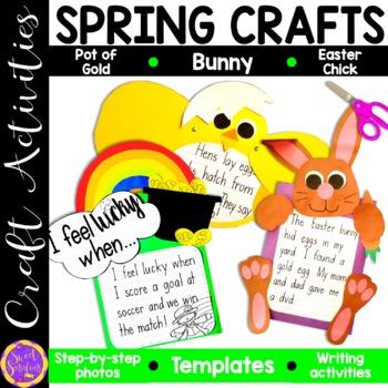 Spring Craft Bundle (St. Patrick's Day Rainbow, Chick, Bunny Rabbit)