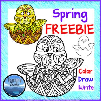 Spring Craft: Color Write Draw FREEBIE