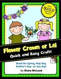 Spring Flower Crown or Lei Craft + BONUS Frame Craft