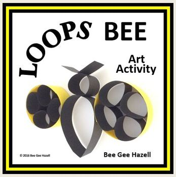 LOOPS BEE  Fraction Craft  (art activity with a little bit of math)