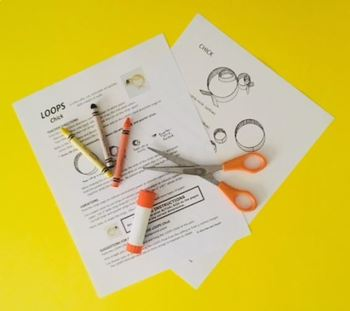 LOOPS CHICK  Spring Fraction Craft  (art activity with a little bit of math)