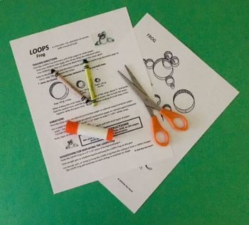 LOOPS FROG  Summer Craft  (art activity with a little bit of math)