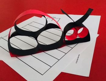 LOOPS LADYBUG  Fraction Craft  (art activity with a little bit of math)