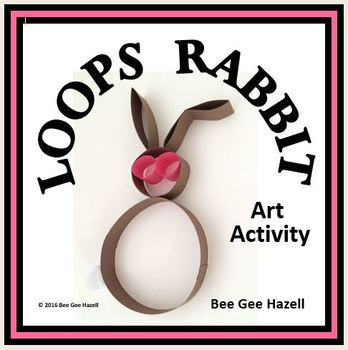 LOOPS RABBIT  Fraction Craft  (art activity with a little bit of math)