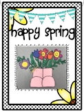 Spring Craft (Rain boots and Flowers)