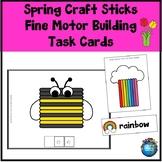 Spring Craft Sticks Fine Motor Building Task Cards