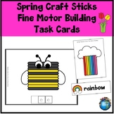 Spring Craft Sticks Fine Motor Building Task Cards