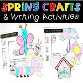 Spring Craft Writing Activities Bug Butterfly Flower Birdh