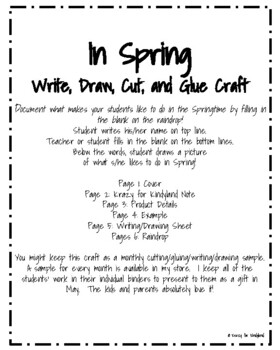 Spring Craft and Writing: Raindrop