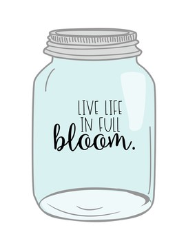Spring Writing Craft- Mason Jar Flowers