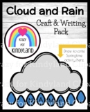 Spring Activity with Cloud and Rain Name Craft for Weather, Seasons