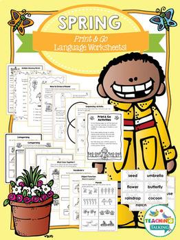 Spring Craftivity & Worksheets