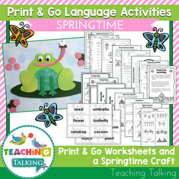 Spring Craftivity & Worksheets