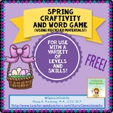Spring Craftivity and Word Game {FREE}