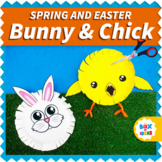 Spring Crafts (Chick and Bunny Spring Craftivity) Scissors