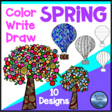 Spring Craft: Spring Writing, Spring Coloring and Drawing Pages