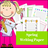 Spring Creative Writing Paper for Elementary