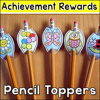 Behaviour Management Rewards - Spring and Summer Pencil Toppers