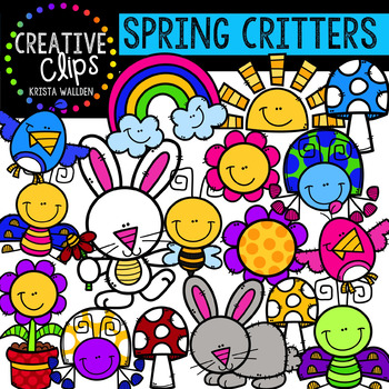 Spring Critters: Spring Clipart {Creative Clips Clipart}